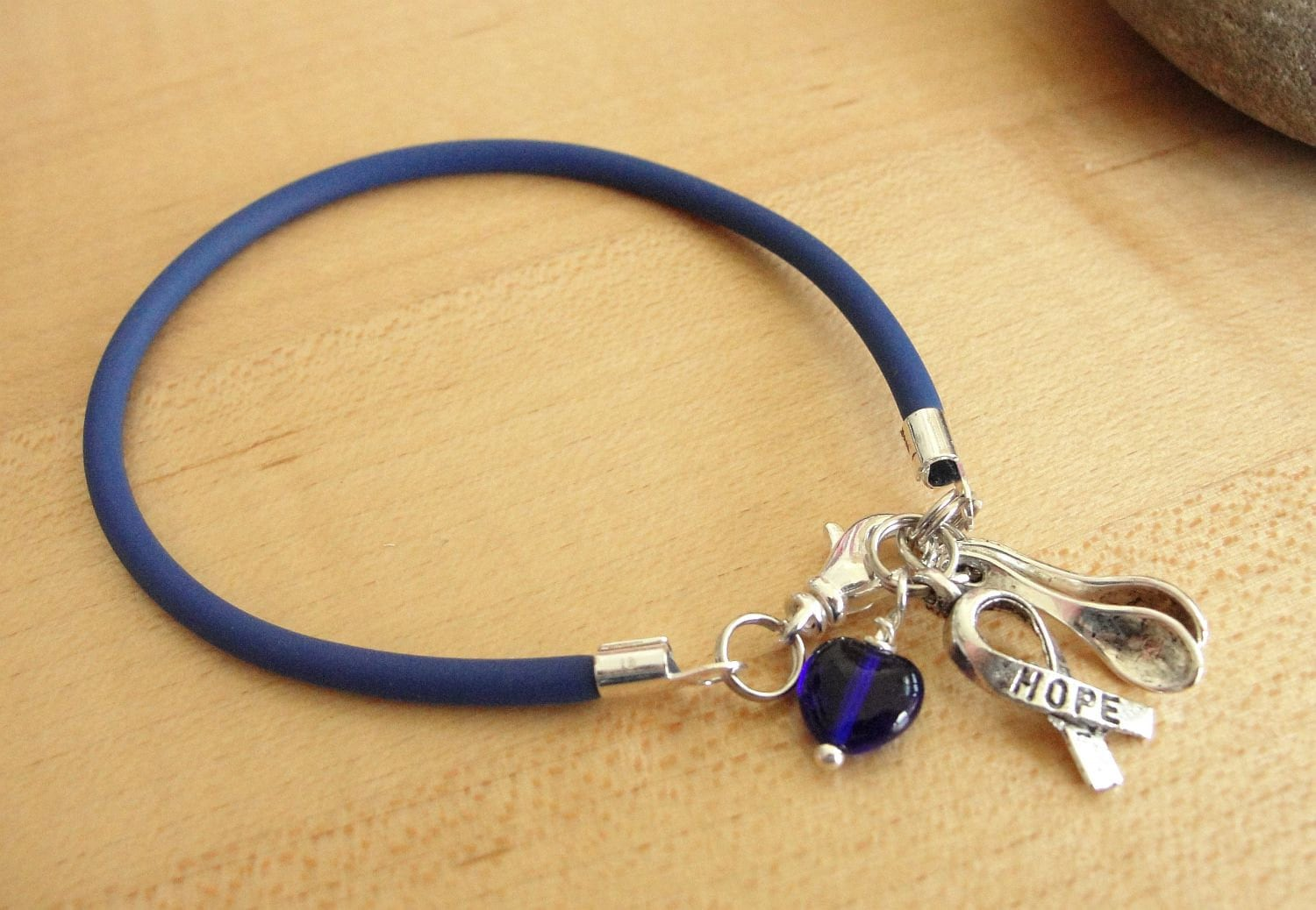 Blue Awareness Bracelet / Anklet - The Spoon Theory - POTS, Dysautonomia, ARDS, Arthritis, Chronic Fatigue, & More
