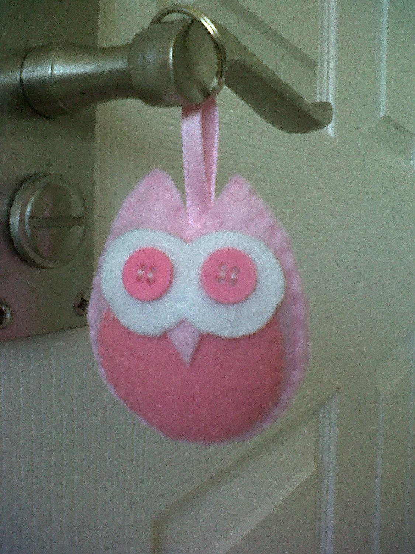 Felt Owl Keyring/Handbag charm
