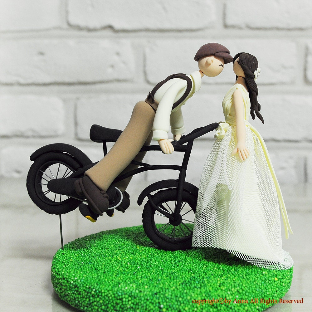 wedding cake toppers motorbike