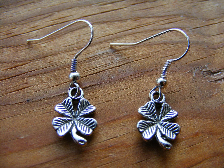 Earrings Four Leaf Clovers