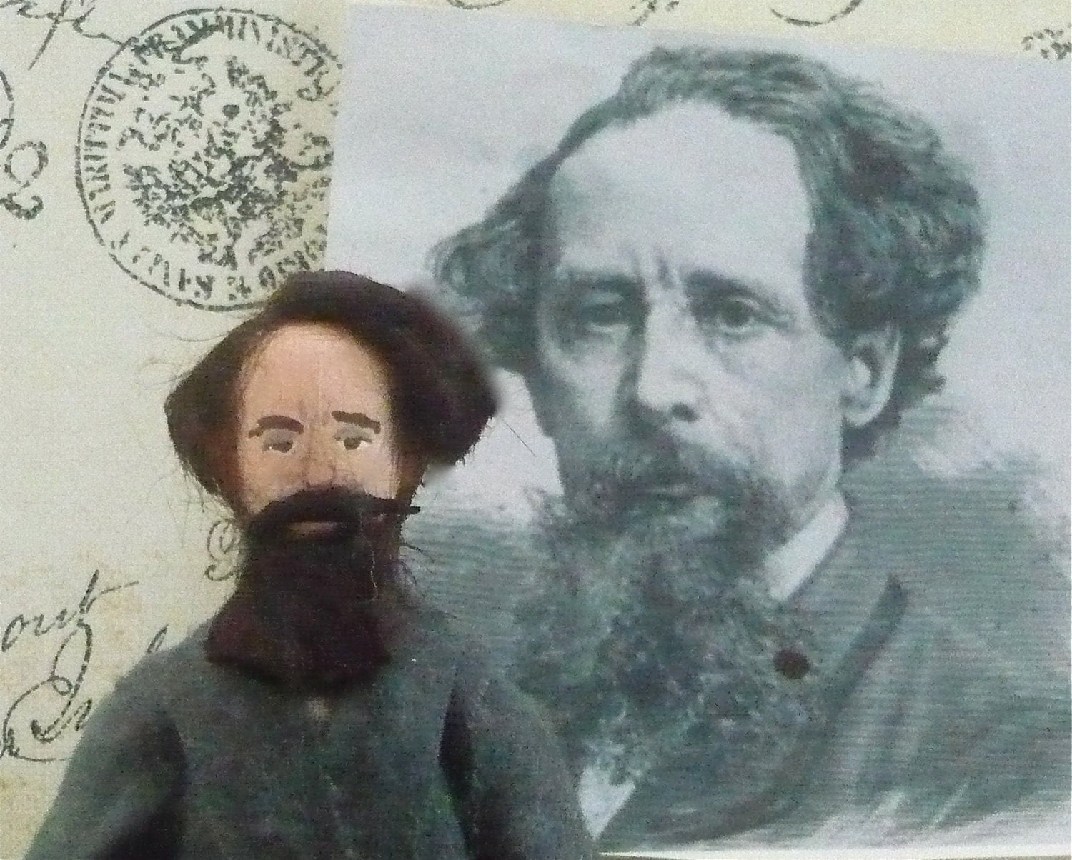 Charles Dickens Doll Miniature Author