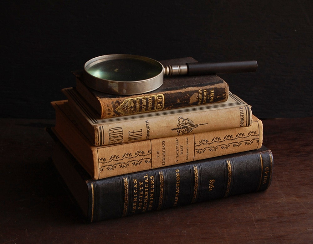 Antique Rustic Book Collection