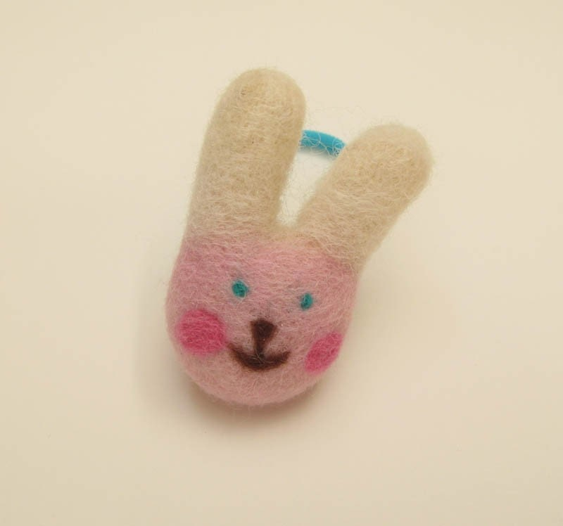 Pink Bunny Hair Accessory for Ponytail