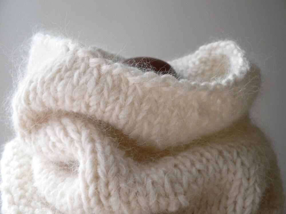 flurries cowl - suri alpaca - handmade by windowsill - windowsill