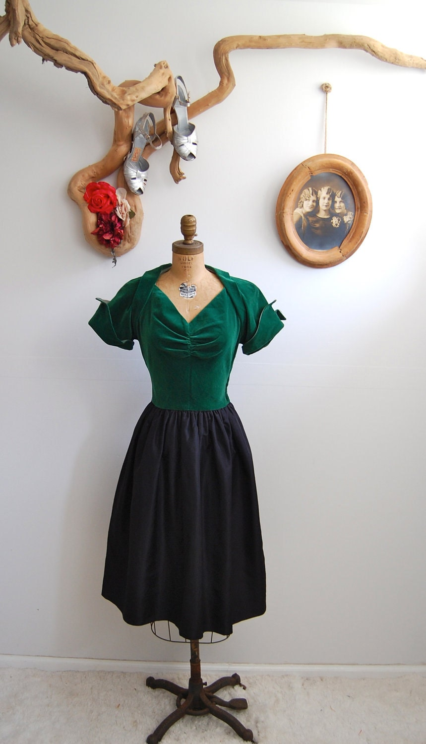 Vintage 1940s Dress - 40s Cocktail Dress - The Gemma