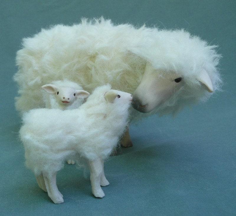 Swedish Sheep with Twins