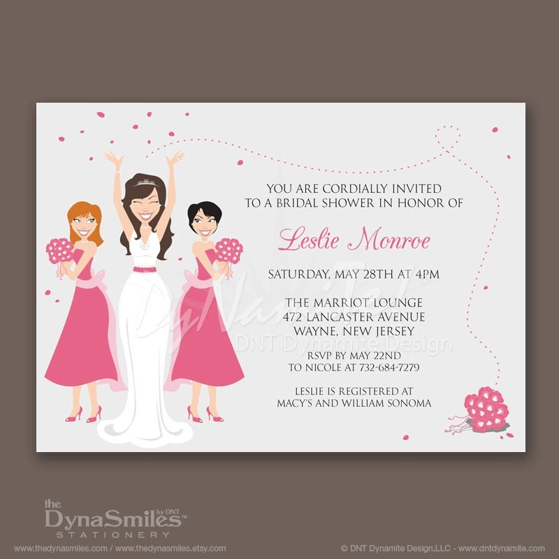 Bridal Party - Bridal Shower Invitations