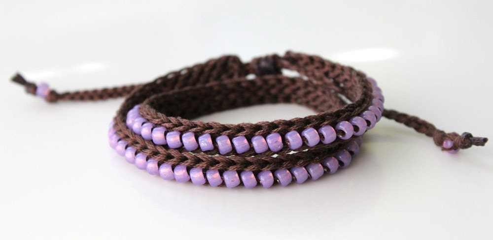 How To Crochet Bead Necklace | Free Pattern & Tutorial at