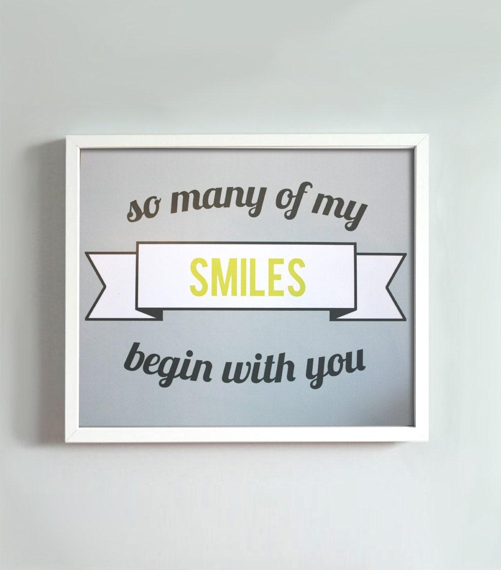 8x10 Smiles print