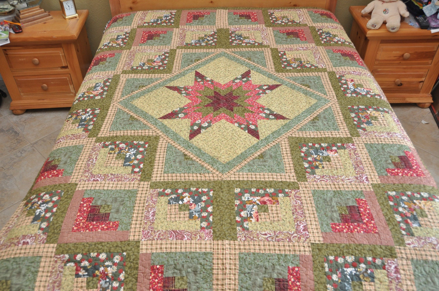 Log cabin pineapples courthouse steps quilts on pinterest