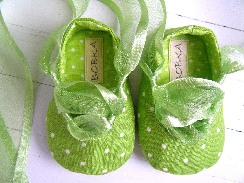 Яблоко Зеленая точка балета обувь для вашего ребенка девушка