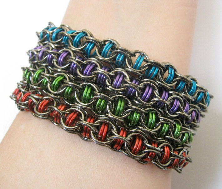 Mystery Chainmaille Bracelets Set of Four