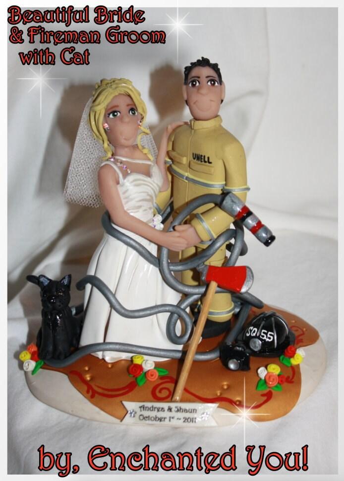 wedding cake toppers fireman