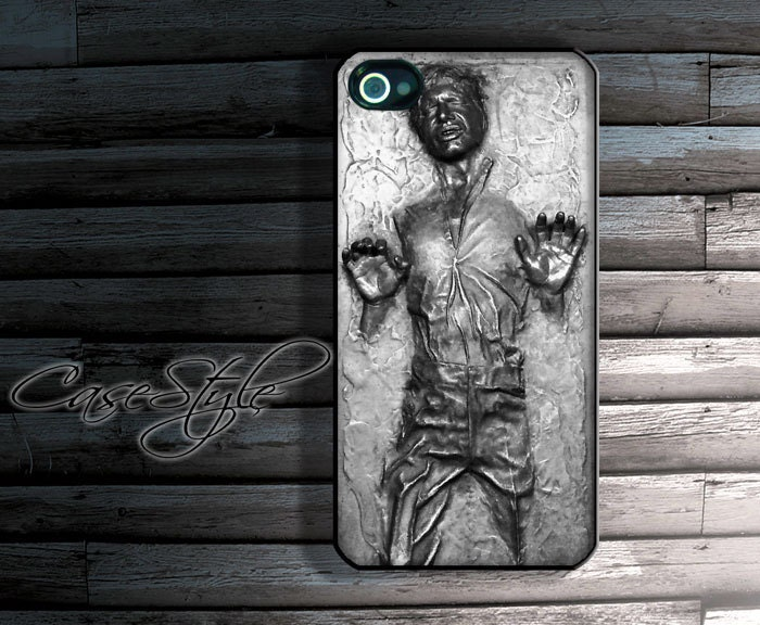Han Solo carbonite iPhone 4 case, iPhone 4s case, case for iPhone 4. Includes 3 layers Screen protector. Black or white.