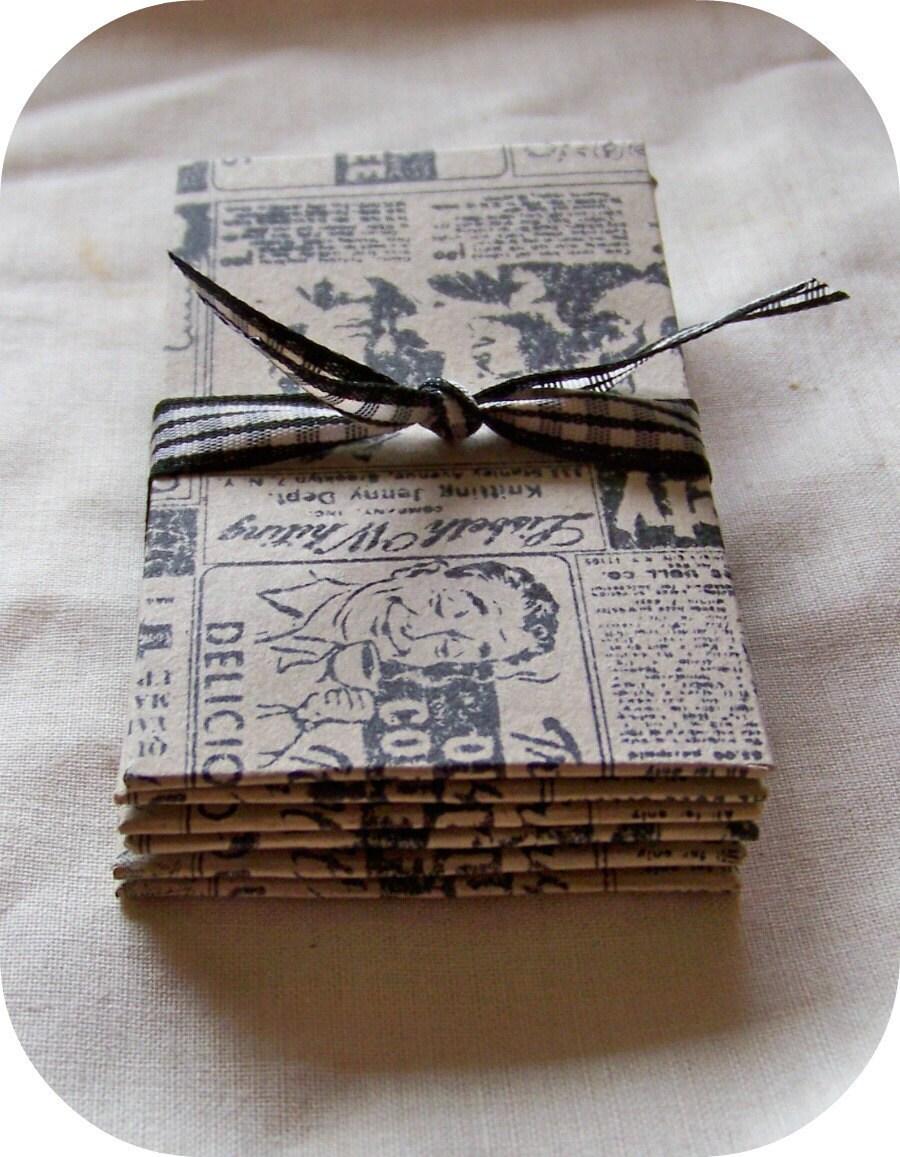 Coin Envelopes Hand Stamped Vintage Ad Coin Envelopes