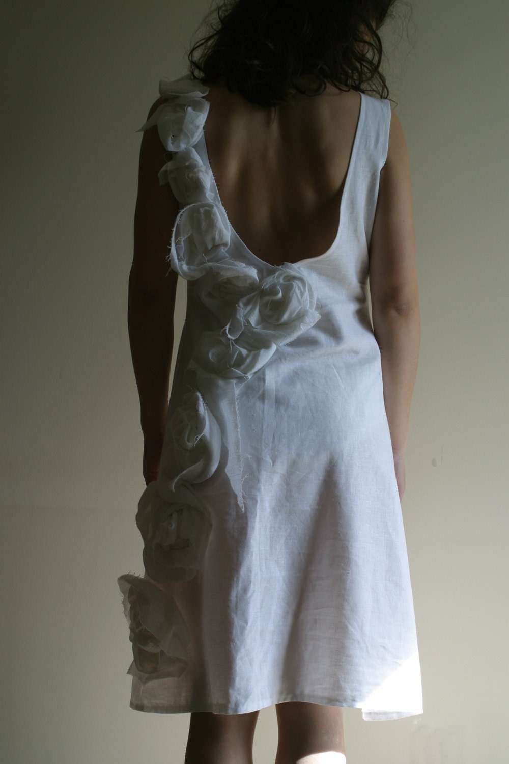 Linen Wedding Dress by NervousWardrobe on Etsy