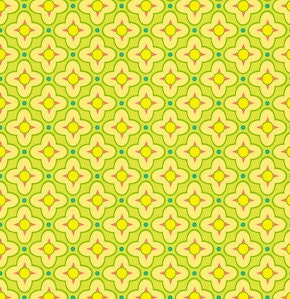 Tiled Primrose in Celery from the Bijoux Collection by Heather Bailey for Free Spirit Fabric