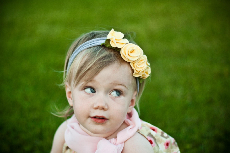 Лимонный крем snugars повязка волосы группа шляпу шапочка ребенок младенец малыш новорожденных девочек