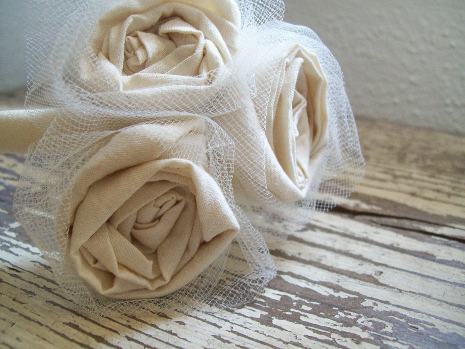 Natural Cotton Flower Girl Headband