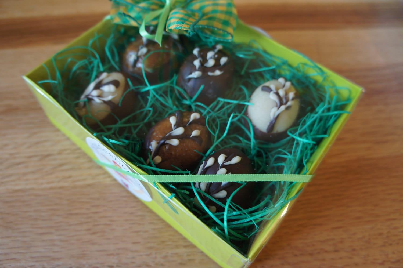 Marzipan & Pecan/Caramel Easter Eggs
