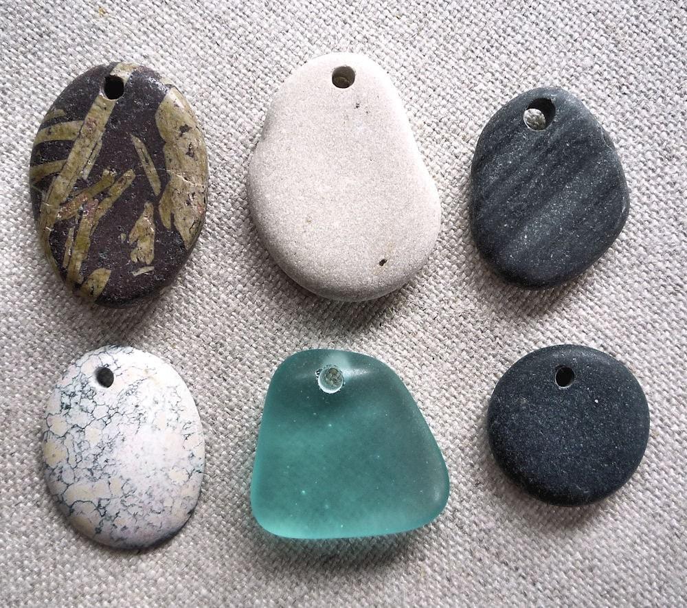 Handmade Pendants on Stone Pendants Handmade Five Lake Superior Top By Ginnysart