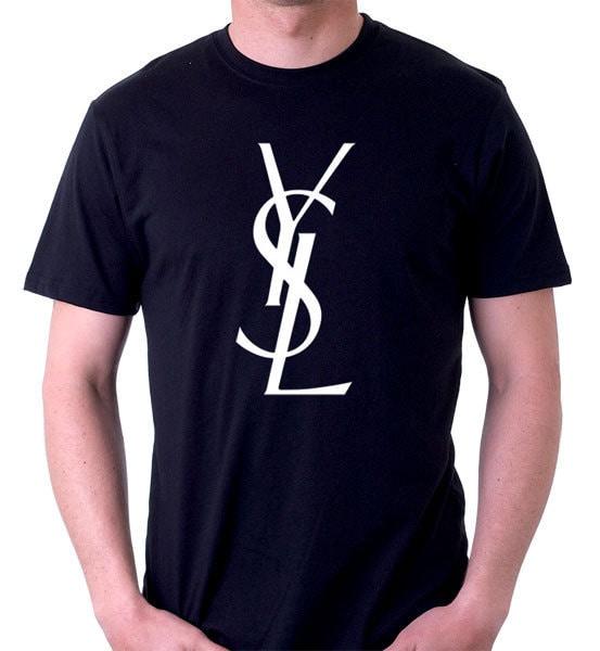 Lebron james ysl logo t shirt dwayne wade gucci high top for Ysl logo tee shirt