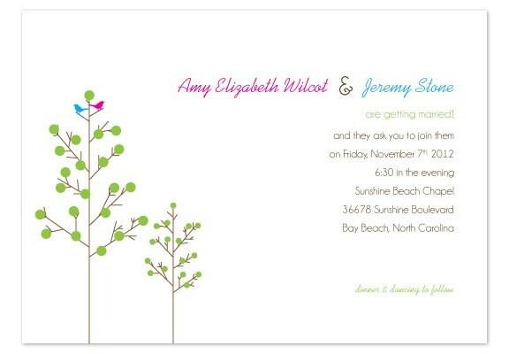 DIY Printable Wedding Invitation Set Love Birds From emandbee