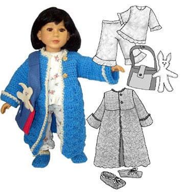 My Twinn doll clothes pattern - 2 pretty dress patterns