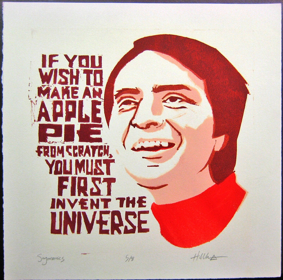 Carl Sagan apple pie quote