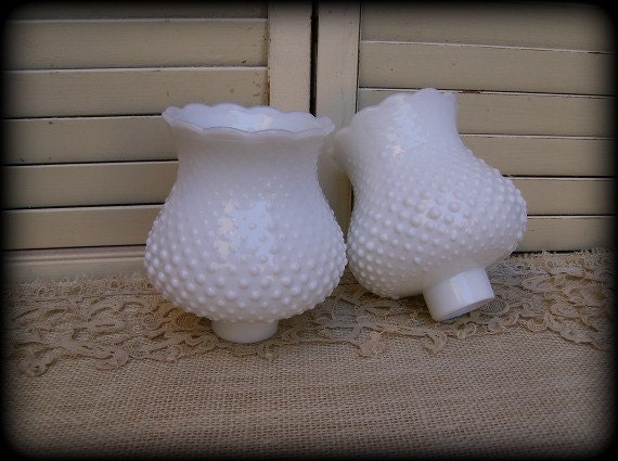 Vintage Hobnail Milk Glass Globe Shade Replacement by WKayVintage