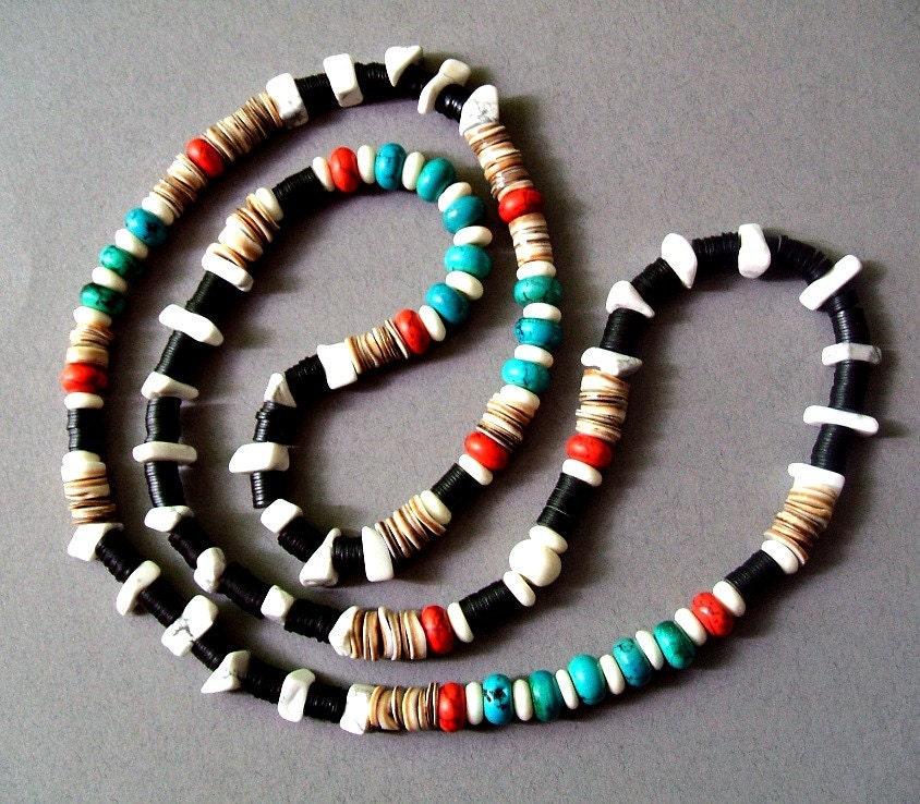 Native American Turquoise Beaded Freedom Necklace - NeldaAZTEX