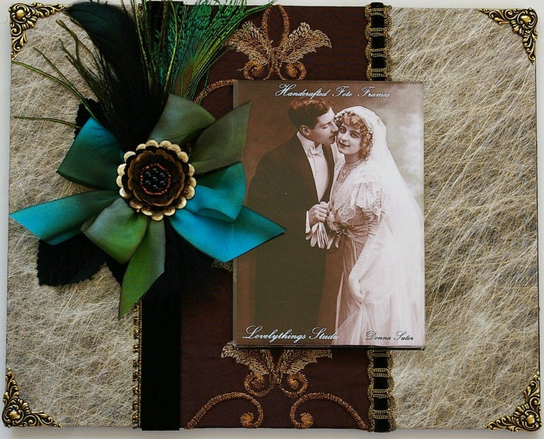 Photo Frame, искусно украшенный 8 х 10 вышитых тканей и бумаги монтаж рамку для фото