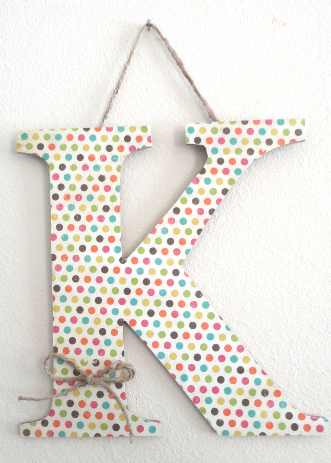 Decorative Polka Dot Letter K