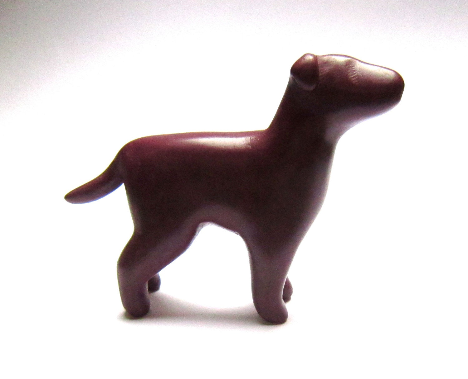 Jex Dog terrier sculpture burgundy bordeaux decoration hand made OOAK waz-O