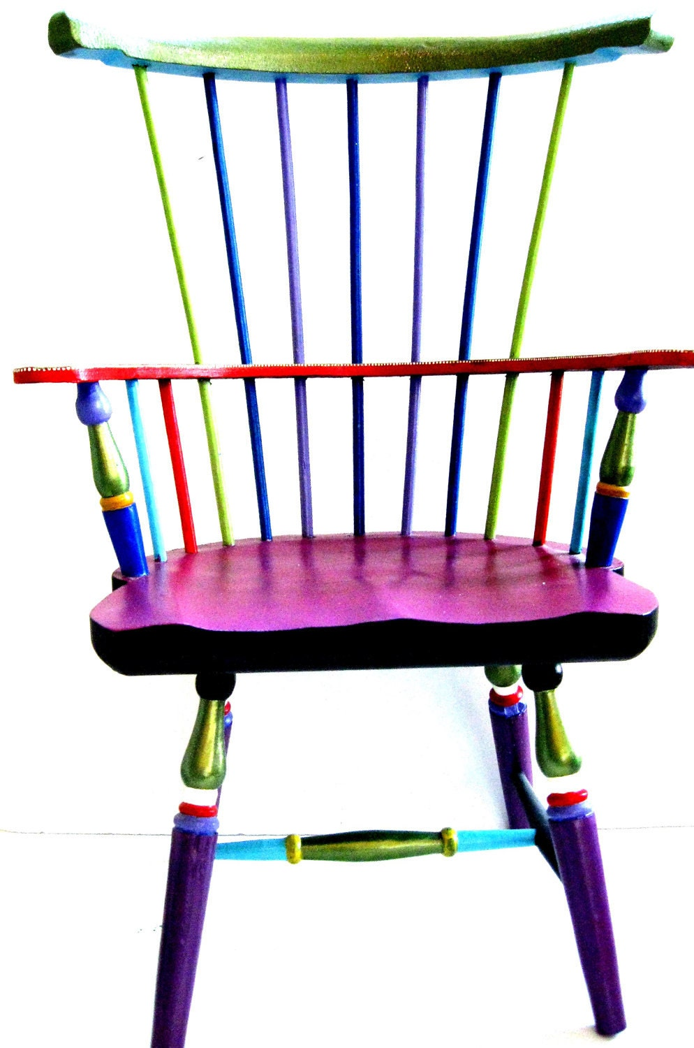 Windsor Style Doll Chair Hand Painted
