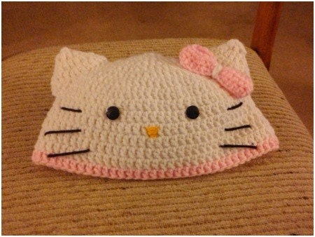 Made by K - Tutorials: Hello Kitty Granny Square Scarf Crochet Pattern