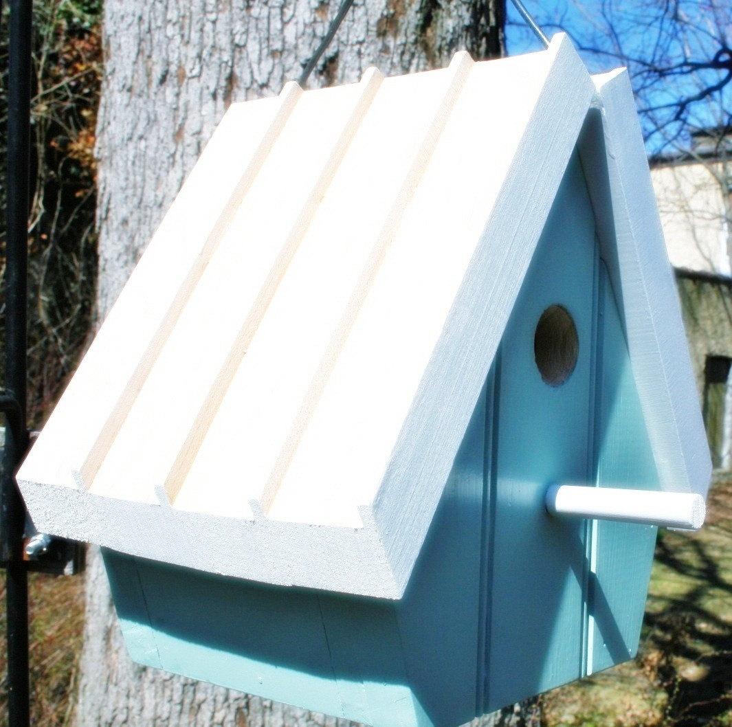 Upcycled Reclaimed Bird House/Nest Box for Bluebird, Chickadee, Nuthatch, Titmouse or Carolina Wrens, bird, bird lovers, love birds, eggs, egg, nesting, nest, home, sweet home, home decor, house decor, wall decor, Great gift for your Birder friends