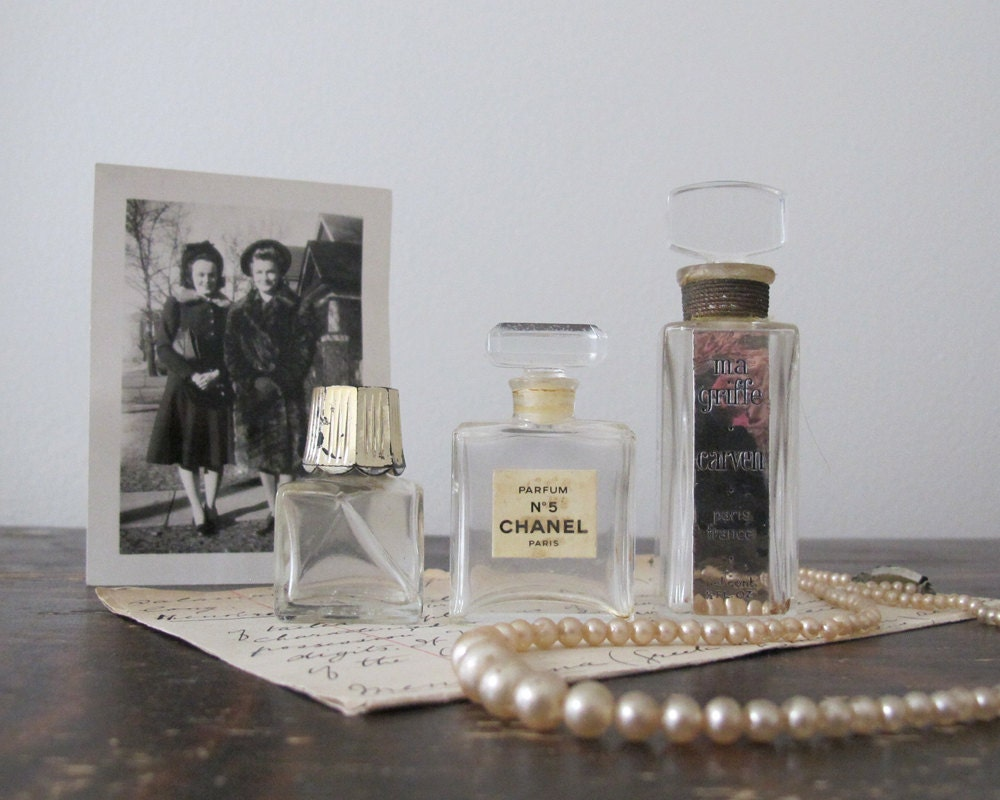 Vintage Perfume Bottles from France and Italy, Paris Apartment Chic - LittleKittenVintage