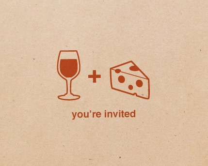 20 Wine and Cheese Party Invitations, Free Customization
