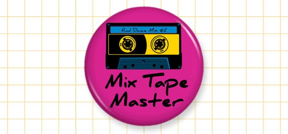 "80s Magnet ""Mix Tape Master"" - 1.25 Inch - ctrlaltdeviant"
