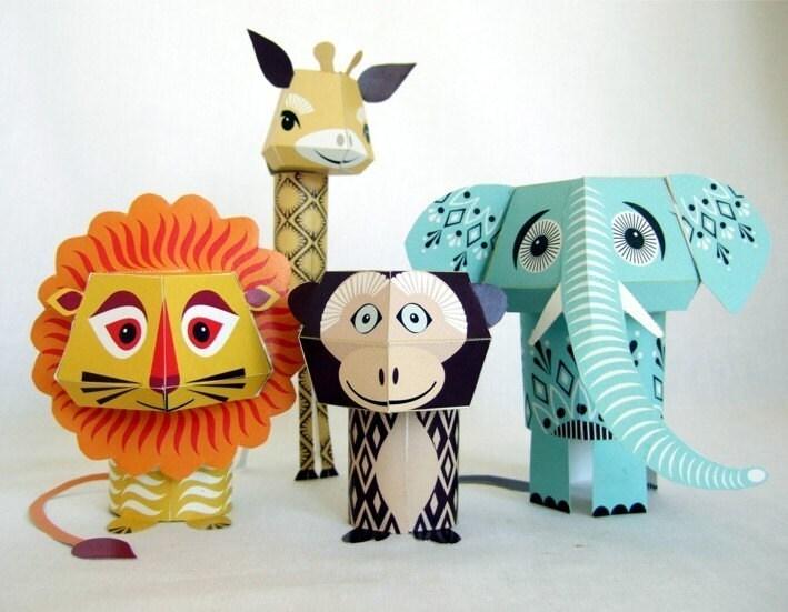 My Little Piece Of Heaven Papercraft Animals