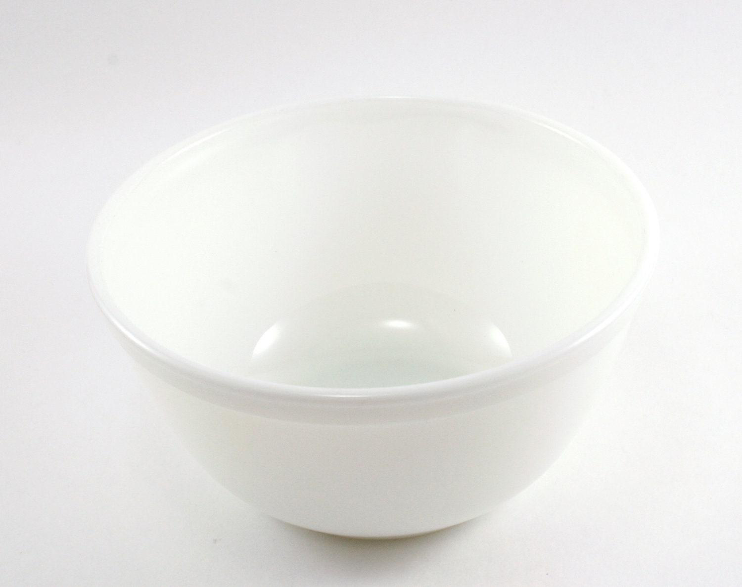 Vintage 1950s White / Milk Glass Pyrex Mixing Bowl / White Kitchen - TheLuckyFindVintage