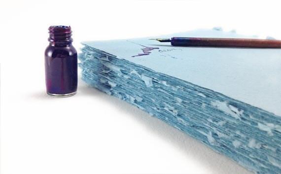 Turquoise Handmade Paper 35