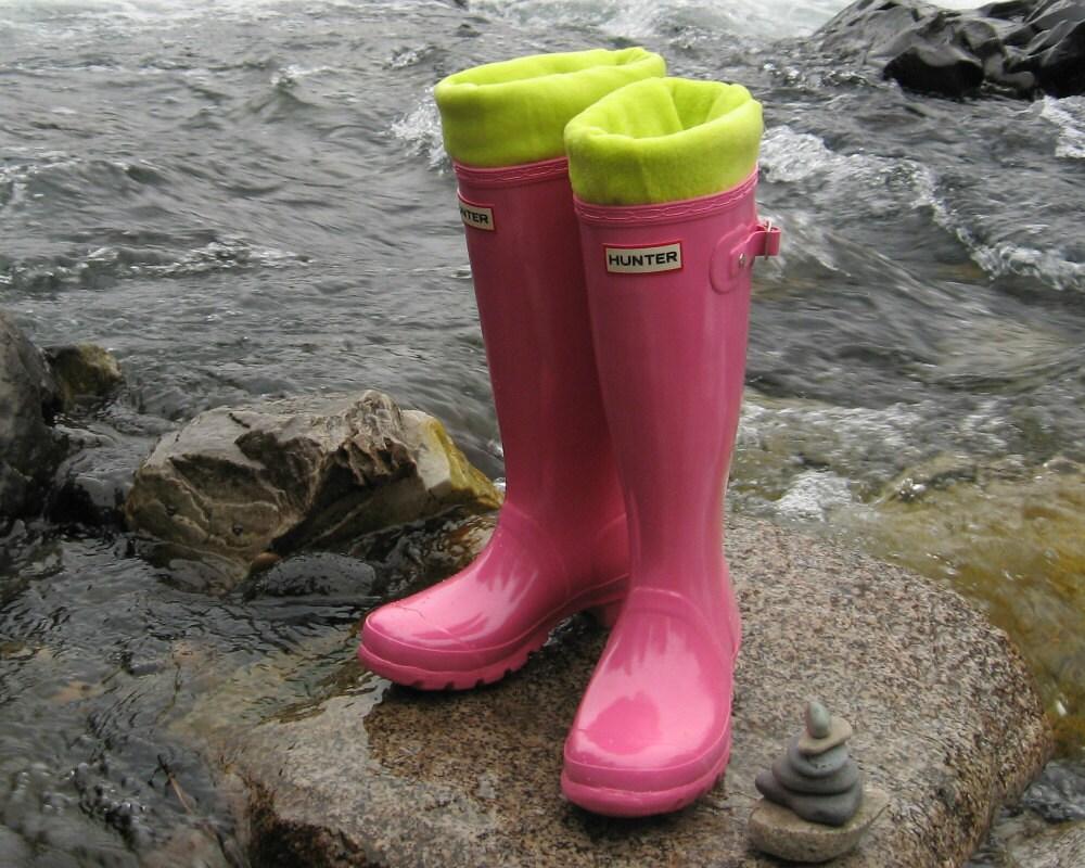 Kids Boot Socks Neon Green Handmade for You