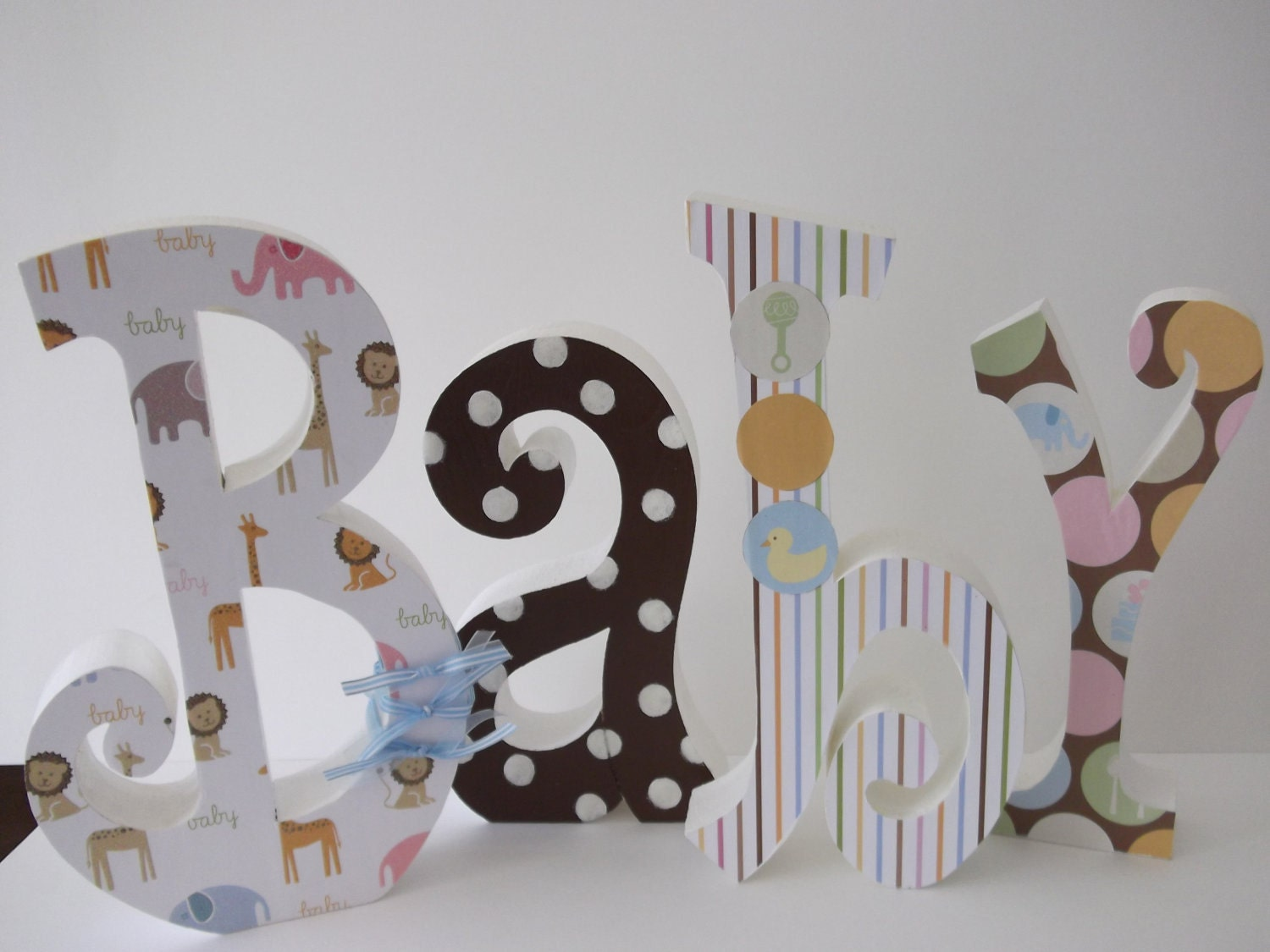 Baby room decorations letters photograph baby letters wood for Wooden art home decorations