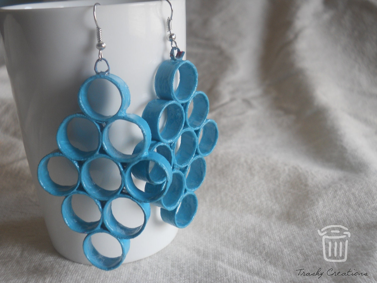 9 ring paper earring by Trashy Creations on Upcycle Fever