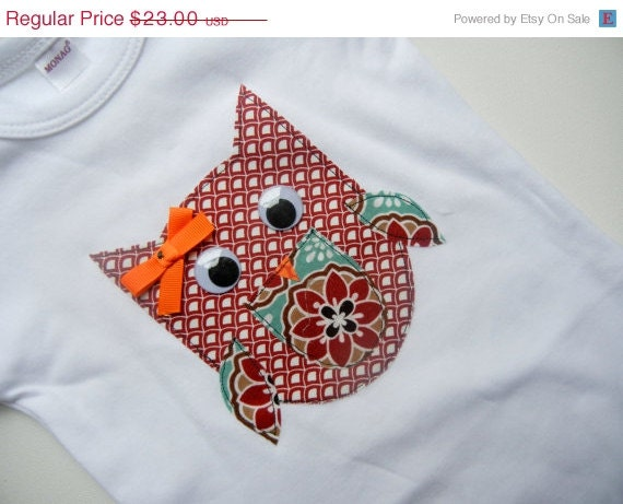 CYBER MONDAY SALE Girls Boutique Clothing, Owl T Shirt