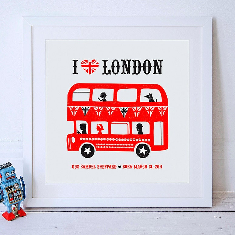 Personalized I Love London Print