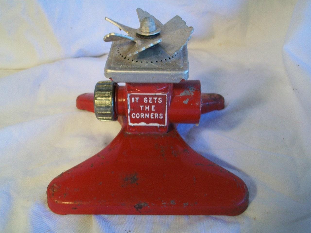 it gets the corners rotating sprinkler vintage etsy
