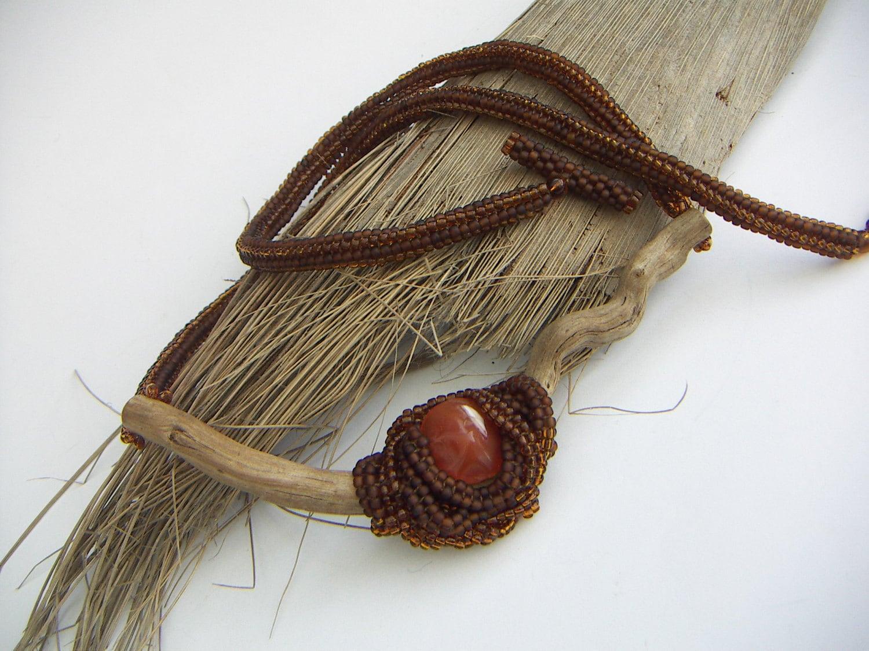 Driftwood Carnelian Nest Necklace - annamei